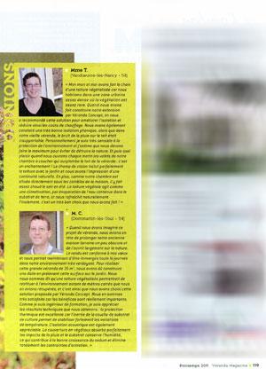 Article Véranda Magazine