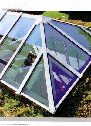 Dôme vitré + toiture végétalisée